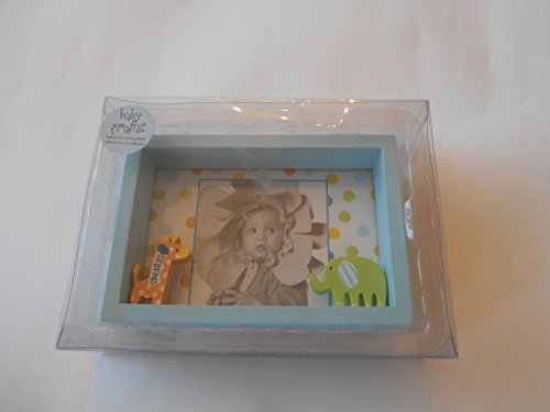 Baby Essentials Blue Wooden 4x6 Frame