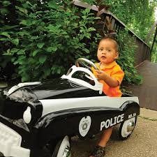 Top-Selling-Kids-Toddlers-Pedal-Power-Ride-On-Police-Patrol-Car-Vehicle-Toy-Realistic-Black-And-White-Cop-Car-Hours-Of-Fun-And-Games-Powder-Coated-Lead-Free-Paint-Weather-Resistant-True-Law-Order