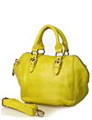 GLAM MONOTONE HANDBAG - YELLOW
