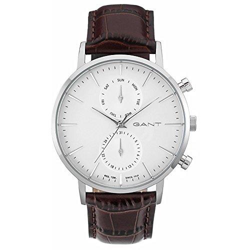 GANT TIME uomo-Orologio da polso PARK HILL DAY-DATE al quarzo in pelle W11201
