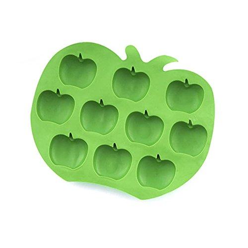 Mini Modèle de Glace - YOKIRIN® Moule en Silicone Souple pour Glace Design Créatif en Forme de Pomme - Vert