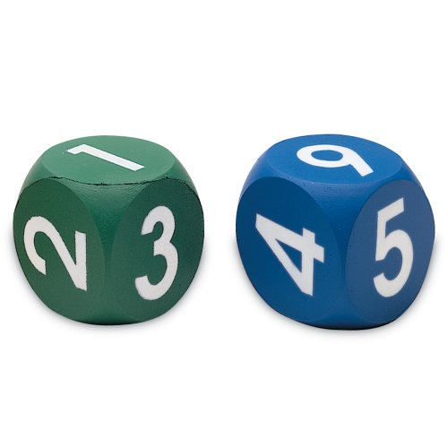 Learning Resources Numeral Dice, Set of 2 - 1