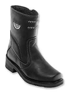Milwaukee Motorcycle Clothing Company Shifter Leather Women's Motorcycle Boots (Black, Size 10.5C)