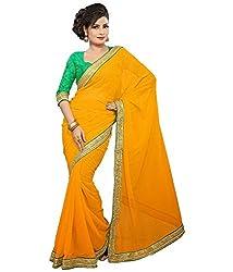 Pushkar Sarees Chiffon Saree (Pushkar Sarees_55_Yellow)
