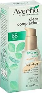 Aveeno Facial Moisturizers Clear Complexion BB Cream, Fair To Light, 2.5 Fluid Ounce