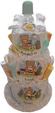 Baby Gift Idea DCAKEBLD Breakfast, Lunch and Dinner Diaper Cake