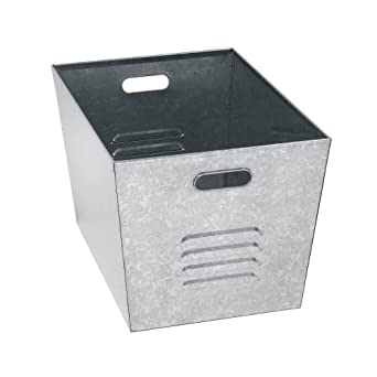 "Muscle Rack LB111310 Steel Galvanized Utility Bins 12.9"" Width x 20"" Height x 18"" Depth (Pack of 6)"