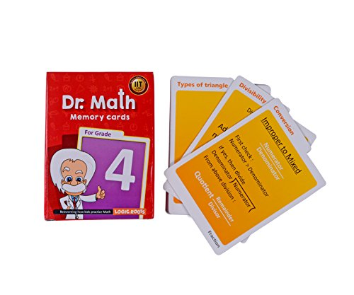 Dr Math (Grade 4) - Memory Flash Cards for Grade 4 Kids for Concepts, Clarity and Recall