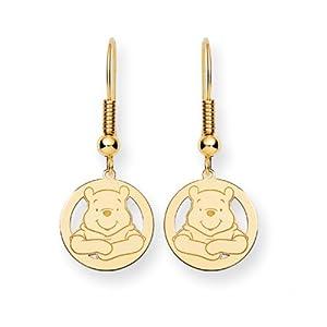 Disney's Winnie the Pooh Wire Earrings in 14 Karat Gold