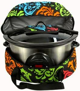 Slow Cooker/Crock Pot Carrier - Damask