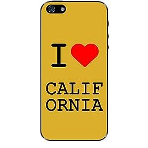 Skin4gadgets I love California Colour - White Phone Skin for IPHONE 5