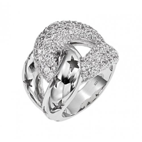 Thierry Mugler T22156Z Silver Ring-Cubic Zirconia