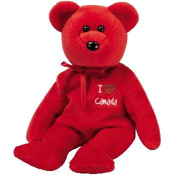1 X TY Beanie Baby - CANADA the Bear (I Love Canada - Canada Exclusive) - 1