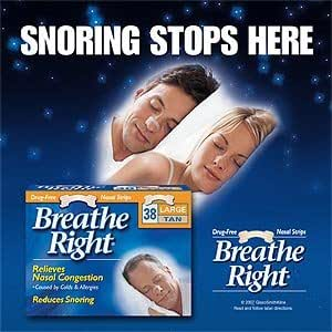 Breathe Right-Large Tan Nasal Strips, 100ct