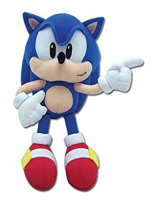 GE Animation Sonic the Hedgehog: Classic Sonic Plush by Great Eastern