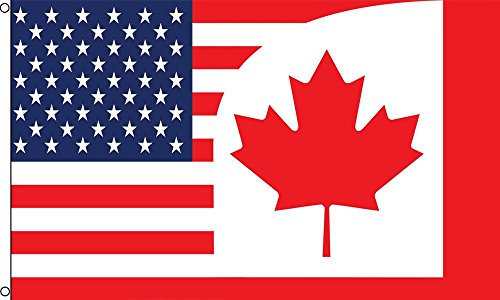 Best Flags USA/Canada Combo Polyester Outdoor Flag, 3 by 5-Feet (Canada Usa Flag compare prices)