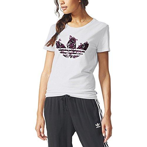 Adidas Trefoil Vines Maglia per Donna, Bianco, 40
