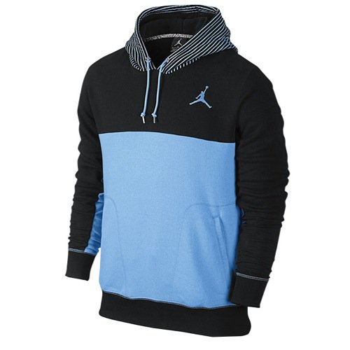 Jordan mens Flight Classic Pullover Hoodie 619442-477_L - Legend Blue/Black (Jordan Classics compare prices)