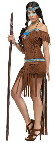 Funworld Womens Sexy Medical Indian Princess Native American Theme Party Costume