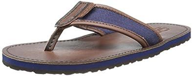 Polo Ralph Lauren Men's Sullivan Flip-Flop,Newport Navy/Dark Brown,7 D US