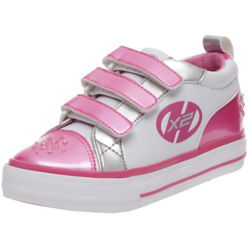 Heelys Youth Sparkler White/Pink/Silver Fashion Sports Wheeled Shoe Hly-G2W-0105 3 UK