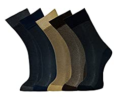 Vinenzia Men's Socks (Pack Of 5) (Multi-Coloured_Free Size)