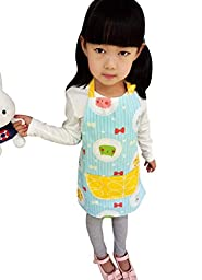 CRB Toddler Little Girls Boys Baking Bakware Cute Chef Baking Top Apron with Pocket (3T to 4T, Style #7)