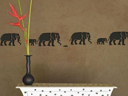 schablone elefanten plastik 60x21cm motivh he 14cm. Black Bedroom Furniture Sets. Home Design Ideas