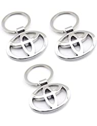 Indiashopers Toyota Full Metal KeyRing KeyChain (Pack Of 3)