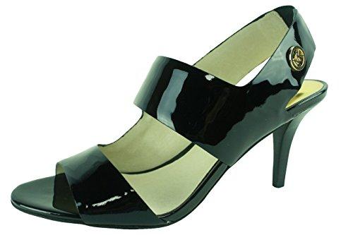 Michael Michael Kors Women'S Rochelle Open Toe Sandal (Black Patent 6.5 M) front-421562