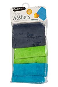 Mum2Mum Face Washers Baby Lime Green/Teal/Navy, Perfect for bath time, after meals or as a gift - Bebe Hogar