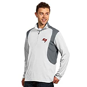 Tampa Bay Buccaneers Delta Pullover (White) by Antigua