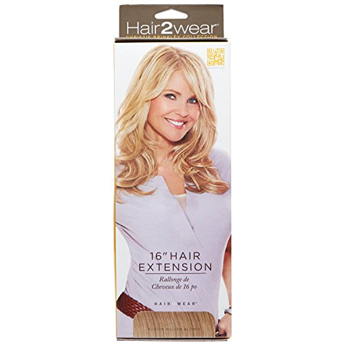 Hair2wear Christie Brinkley Collection 16 Inch Clip-In Hair Extension in Medium Golden Blonde