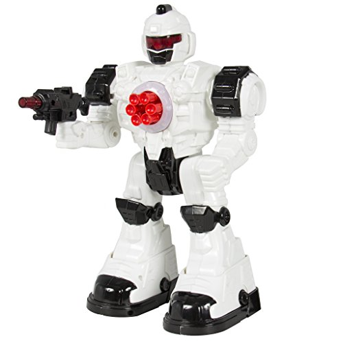 Generic RC Robot Walking Shooting Robot Remote Control Police Toy Lights Sound Effects (Walking Shooting Robot compare prices)