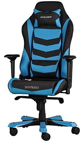 DX Racer Iron Gaming Chair - Blue and Black Stripe - OH/IS166/NB