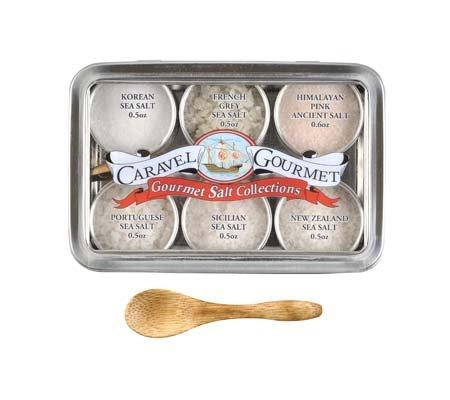 Caravel Gourmet Salt Sampler, Natural, 8.5-Ounce