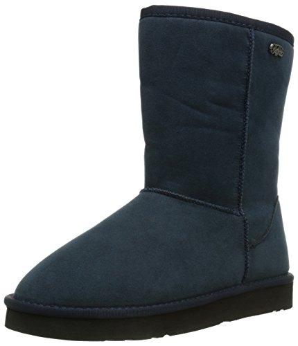 Buffalo 238892 SY, Stivali da neve con caldo rivestimento interno, in pelle scamosciata Donna, Blu (Blau (NAVY 10)), 41 (8.5 uk)