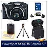 41pB21TXSpL. SL160  Canon PowerShot SX130IS 12.1 MP Digital Camera with 12x Wide Angle Optical Image Stabilized Zoom with 3.0 Inch LCD Premiere Bundle With 8GB SDHC memory card, Card Reader, DigPro Deluxe Camera Case, Camera & LCD Cleaning Kit, Table Tripod