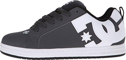 DC Mens Court Graffik Shoes, Grey/White, 8.5D