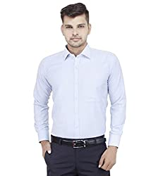 Frankline Men's Formal Shirt (Frankline-77_ Blue _38)