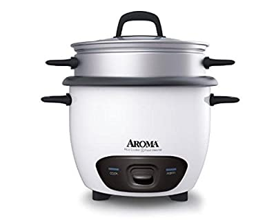 Aroma Arc-3-Cup (Uncooked) 6-Cup (Cooked) Rice Cooker and Food Steamer from Aroma Housewares