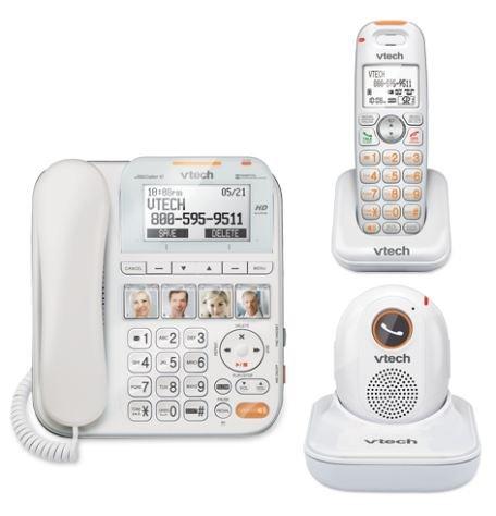 VTech SN6197 CareLine DECT_6.0 2-Handset Landline Telephone