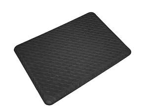 Lets Gel Inc GelPro Plush 18 by 24-Inch Anti-Fatigue Kitchen Mat, Basketweave, Black