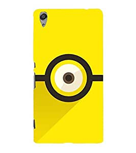 ANIMATED CARTOONISH EYE IN A YELLOW BACKGROUND 3D Hard Polycarbonate Designer Back Case Cover for Sony Xperia C6