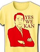 【菅直人】YES WE KAN リブクルーネックTシャツ (ライトイエロー) M