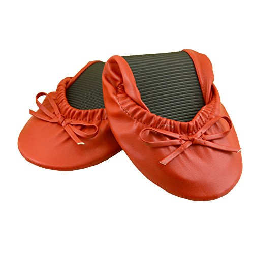 Solemates Purse Pal Foldable Bowed Ballet Flats w/ Expandable Tote Bag for Carrying