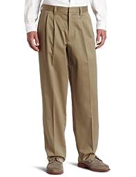 Dockers Men\'s Signature Khaki D4 Relaxed Fit Pleated Pant, Dark Khaki, 36x30