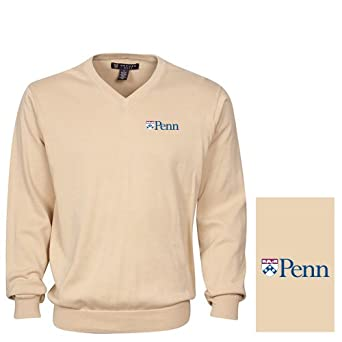 NCAA Pennsylvania Quakers Mens Solid V-Neck Sweater by Oxford