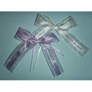 50 Personalized Ribbon Organza And Satin Party Wedding Baby Shower