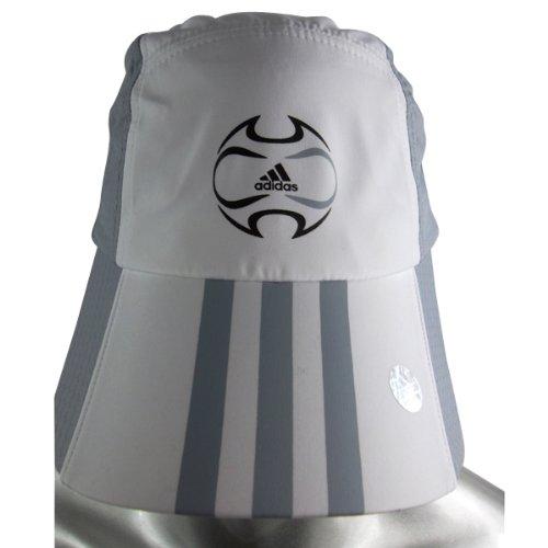 Mens Boys Adidas FB Sign Cap Caps White Silver Unisex Tennis Sports One Size